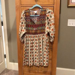 Floral/tribal tunic